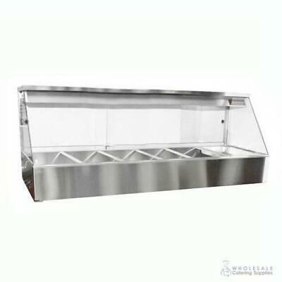 Hot Food Display Angled Front 6 Bay Benchtop Woodson W.HFS26 NO PANS INCLUDED