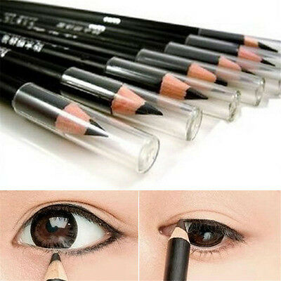 2Pcs black Waterproof Smooth EyeLiner Eyeliner Pencil Pen Beauty Cosmetic Makeup