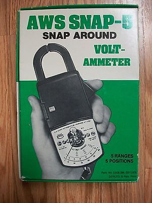 Vintage AWS SNAP-5 Snap Around Volt-Ammeter Model SR-50 in box, with case