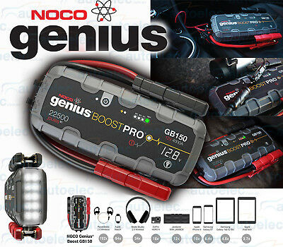 New Noco Genius 12 Volt 4000 Amp Gb150 Portable Lithium Jump Starter Booster