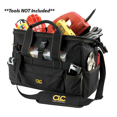 "CLC Work Gear 1534 16"" Tool Bag w/ Top-Side Plastic Parts Tray"