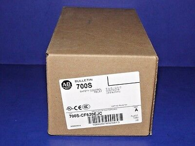 NEW IN ORIGINAL BOX Allen Bradley 700S-CF620EJC Series A Safety Control Relay