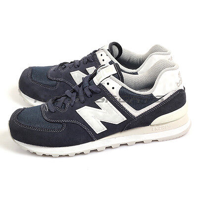 ad88ac8a63c5 New Balance ML574SEE D Navy & White Classic Retro Suede Lifestyle Sneakers  NB