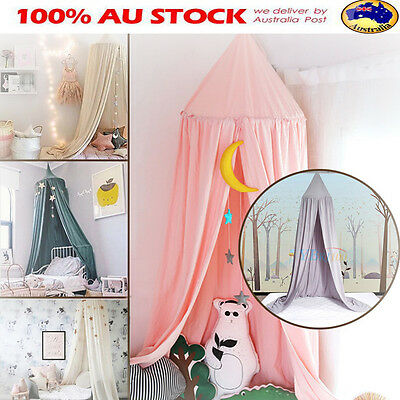 Canopy Bed Netting Mosquito Bedding Baby Kids Infant Children Play Tents Cotton