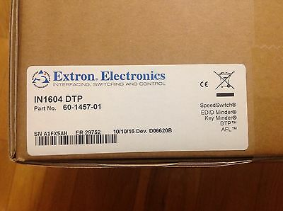 Extron IN1604 DTP Video Switcher and Scaler, New in sealed Box