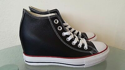 975512d86396fa Converse Chuck Taylor All Star Lux Wedge Black Mid Women s Sneakers Size 7.5