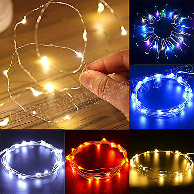 20/50/100 Led Micro Wire String Fairy Party Xmas Wedding Christmas Light