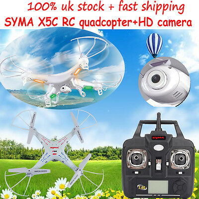 Syma Explorer X5C 2.4G 4CH 6-Axis Gyro RC Quadcopter UFO 2MP Camera Toy Gifts