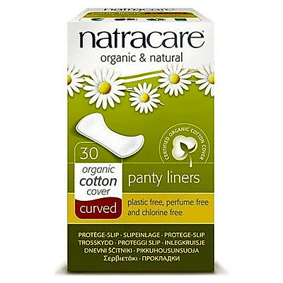 Natracare Organic Curved Panty Liners Pack Of 30 Plastic And Chlorine Free New