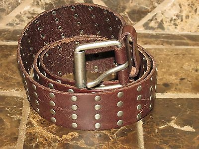 Women's American Eagle Brown Leather Buckle Belt Large