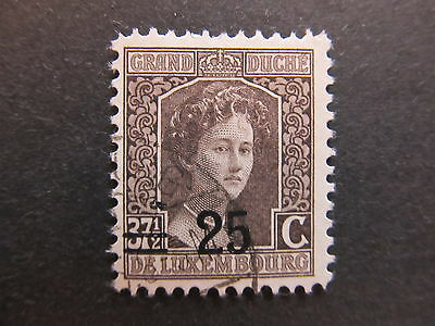 A4P27 Letzebuerg Luxembourg 1916-24 surch 25c on 37 1/2c used #102