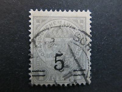 A4P27 Letzebuerg Luxembourg 1916-24 surch 5c on 1c used #107