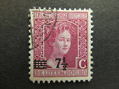 A4P27 Letzebuerg Luxembourg 1916-24 surch 7 1/2c on 10c used #99