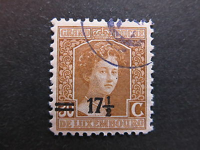 A4P27 Letzebuerg Luxembourg 1916-24 surch 17 1/2c on 30c used #100
