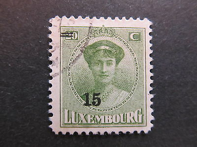 A4P27 Letzebuerg Luxembourg 1925-28 surch 15c on 20c used #86