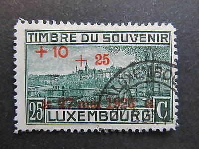 A4P27 Letzebuerg Luxembourg Semi-Postal Stamp 1923 25c on 25c + 10c used #121