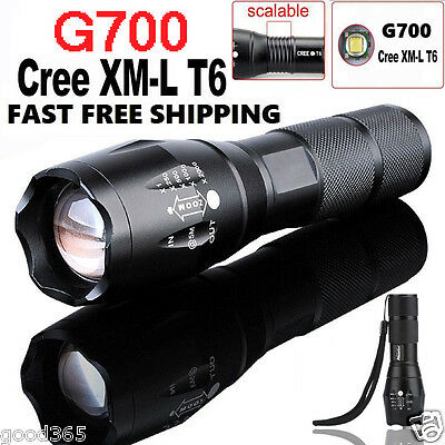 G700 Tactical Flashlight LED Military Lumitact Alonefire Zoom Bright Torch Lamp