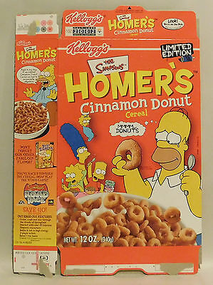 Vintage Homer's Cinnamon Donut Limited Edition cereal box by Kellogg's