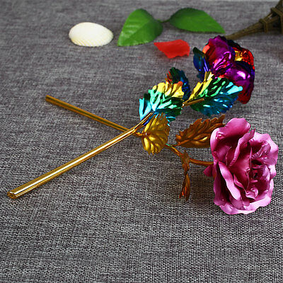 24K Gilded Golden Rose Wedding Festive Party Decoration Supplies Gifts