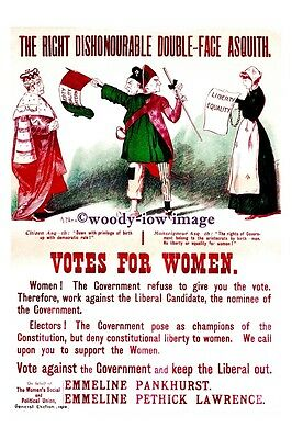 rs0011 - Suffragettes - Votes For Women - Double Faced Asquith - photograph