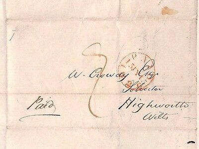 1826 GB Highworth Wiltshire Letter ST. BARTS HOSPITAL Historic Item