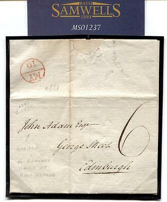 1790 GB HISTORIC LETTER *Fort George* JOHN ADAM Architect re RAMPART WALL