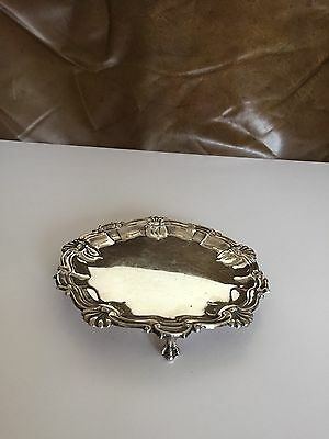 """LOVELY SOLID SILVER CHESTER CARD TRAY OR SALVER (CHESTER 1906) 134g..6.75"""""""