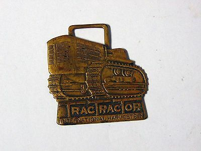 Vintage International Harvester IH Trac Tractor Watch Fob FREE S&H Harrisburg PA