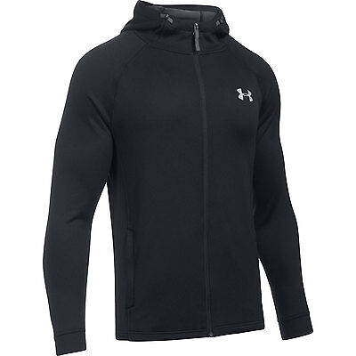 Under Armour Hoodie Tech Terry Fitted Schwarz mit Reisverschluss Sweatshirt