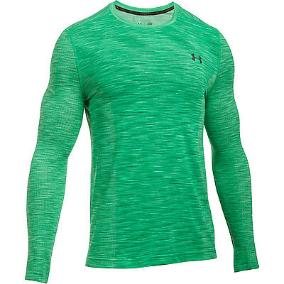 Under Armour Long Sleeve Shirt Threadborne Seamless Grün Sweatshirt Pullover