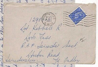 1944 GB Mortlake RAF Leicester East Leicestershire Cover/Letter