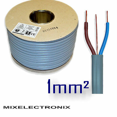 6242Y 3 Core 1mm sq Grey Twin and Earth T E Wire BASEC Certified Electric Cable