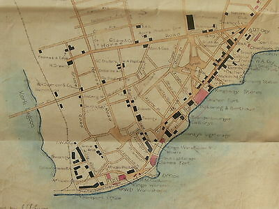 Accra (Gold Coast) 1920 Survey Map Produced by the Commonwealth Trust Agents
