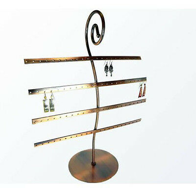 Copper Metal 40 pair Earring Display Stand Countertop Earrings Jewelry