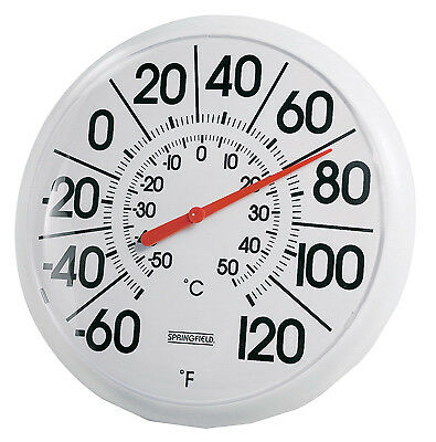 TAYLOR PRECISION PRODUCTS 8-Inch Diameter White Outdoor Dial Thermometer