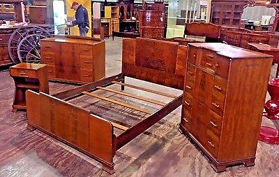 Antique Art Deco 4 Piece Bedroom Set