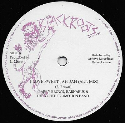 Barry Brown - I Love Sweet Jah (Archive/black Roots 12 Inch) Pre Orders Only!!