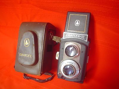 Rare Old Vintage Antique Graflex 22 Model 200 Camera with Leather Case USA Made