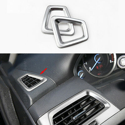 2x Chrome Nickel Front Upper Air Outlet Frame Cover trim For Honda Accord 08-12