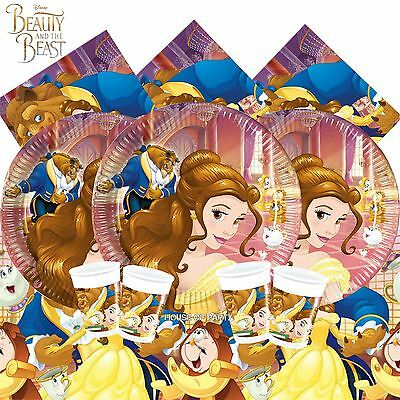 Beauty And The Beast Party Tableware Disney Princess Decorations Girls Birthday