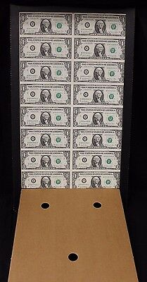 Uncut Sheet of 16 1981 $1 Notes - New York Reserve