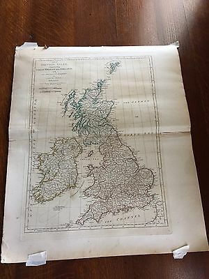 Map Of The British Isles By Samuel Dunn Dated 1774