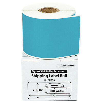 1 Roll of 300 BLUE Shipping Labels For DYMO® LabelWriters® 30256