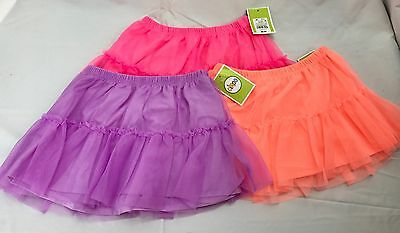 Lot 3 Circo Girls TuTu Ruffled Skirt Purple Pink 18M 4T Orange Toddler Tulle NWT