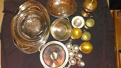 Vintage Silver and silverplate mixed lot over 30lbs