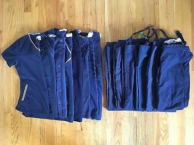 Huge Scrub Top Lot, Navy Blue, Size Small. Pants, Tops And Jacket