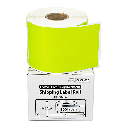 1 Roll of 300 GREEN Shipping Labels For DYMO® LabelWriters® 30256