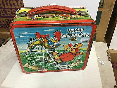 Woody Woodpecker rare metal lunch box 1960s