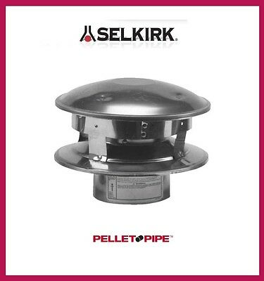 "SELKIRK 3"" VP Pellet Pipe Vertical Termination Cap #3VP-VC"