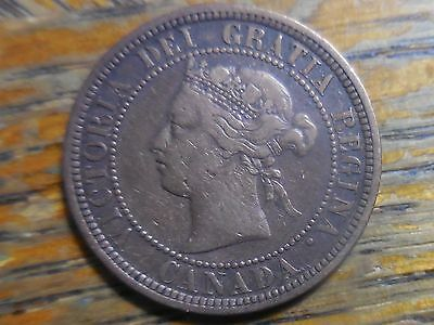 1881 Canadian Victoria Large One Cent Coin (seller's note # 163)